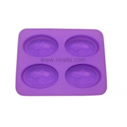 Rose Heart Candle Mould