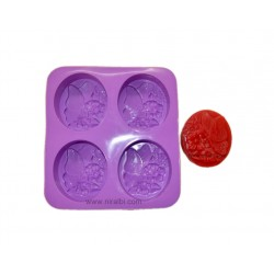 2 level flower candle mould