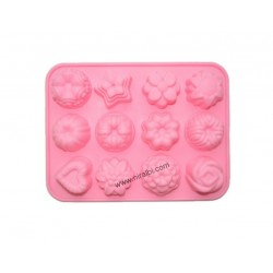 Big rose ball silicone candle mould