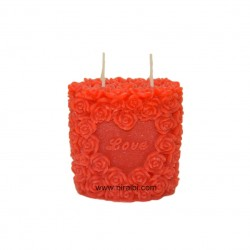 dotted & line big pillar candle mould