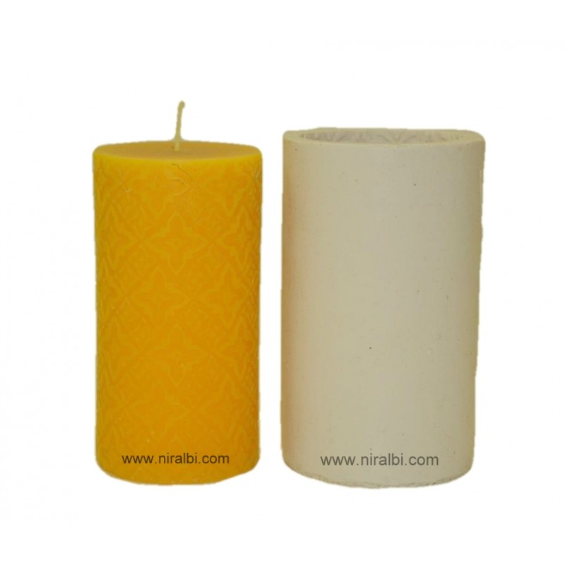 Leaf designer small pillar candle mould