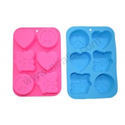 leaf pillar silicone candle mould