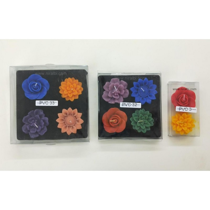 Designer Silicone Candle Mould - Combo 18
