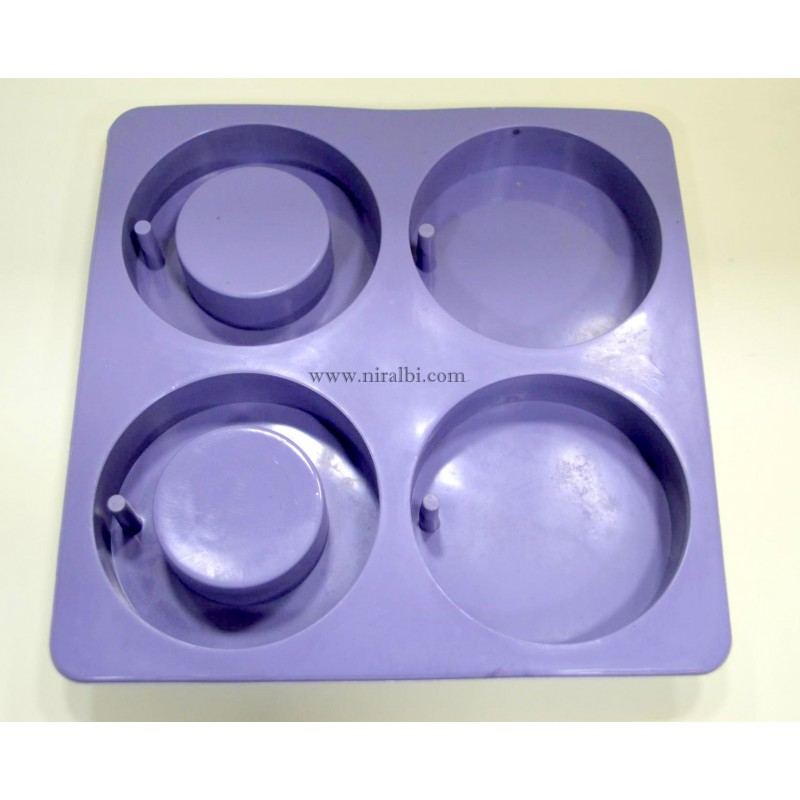 SL - 527 - SMALL DESIGNER PILLAR CANDLE MOULD , MOLD