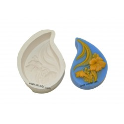 small rose flower design soap mould