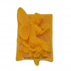 Flower design pillar candle mould
