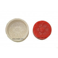 rose flower design floating candle mould