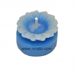 Rose flower heart shape pillar candle mould