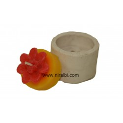 Angle t-light pillar candle mould