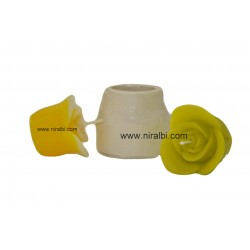Rose bouquet pillar candle mould