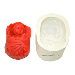 Christmas tree pillar candle mould