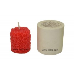 Leaf & Deer pillar Candle Mould
