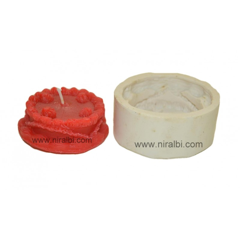3 Layer Birthday Cake Pillar Candle Mould Reference SL386