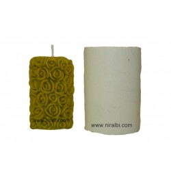 Rose candle mould