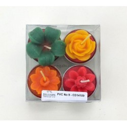 Designer Silicone Candle Mould, Wick, PVC - Combo 16